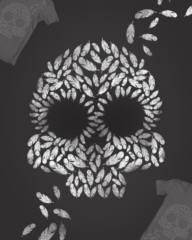 Feather Skullage by rich_umetoys on Threadless