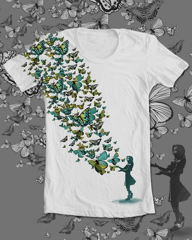 Gift of Butterflies by daleconcepts on Threadless