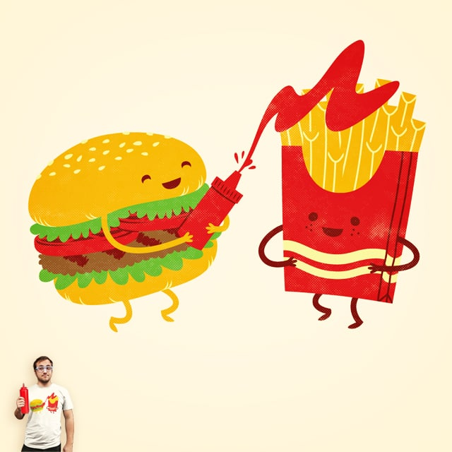 Burger and Fries by pilihp on Threadless