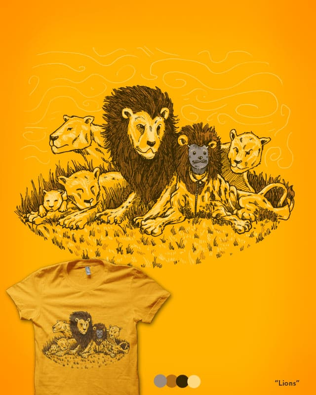 Lions by nickv47 on Threadless