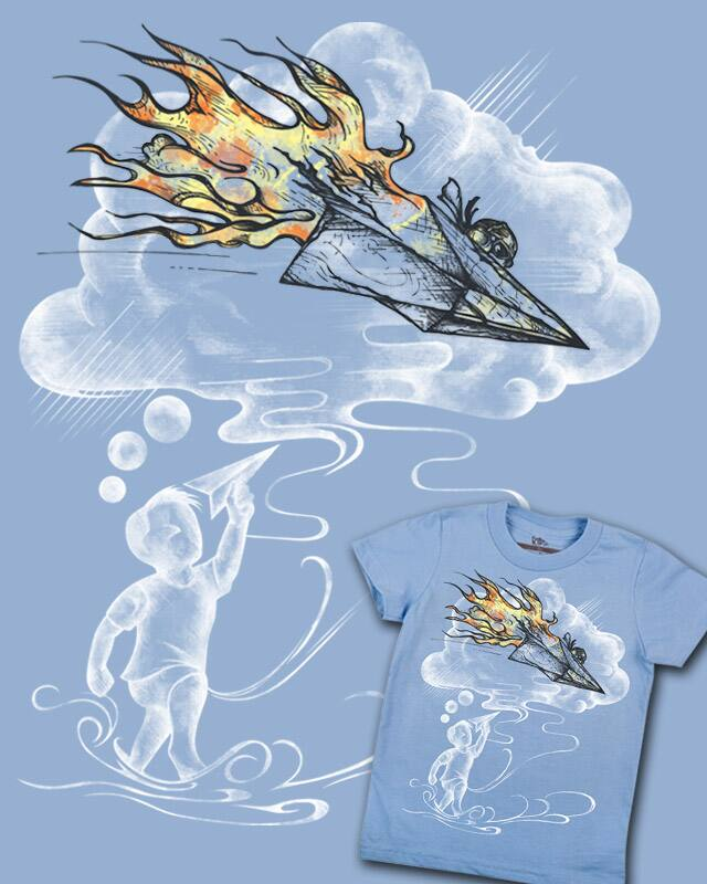 Paper Fighter by alfboc on Threadless