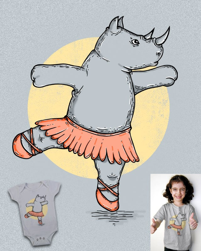 Ballerhino by eQuivalent on Threadless