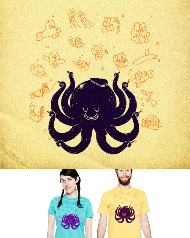 The artist of the sea by alexmdc on Threadless