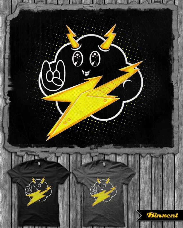 Cloud+Lightning=Rock by Binxent on Threadless