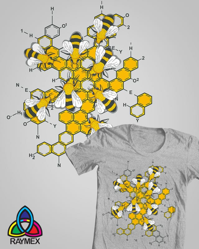 Chemical structure of honey by raymex on Threadless
