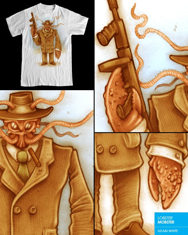 LOBSTER MOBSTER by adamwhite on Threadless