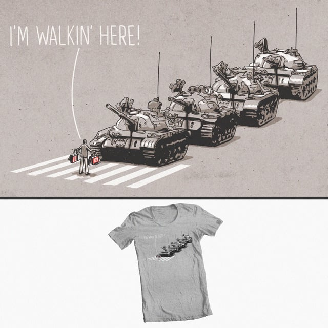 I'm Walkin' Here! by aled on Threadless