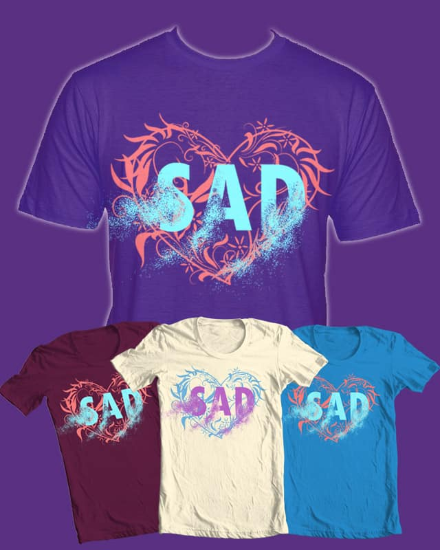 gone sadness by hobigambar on Threadless