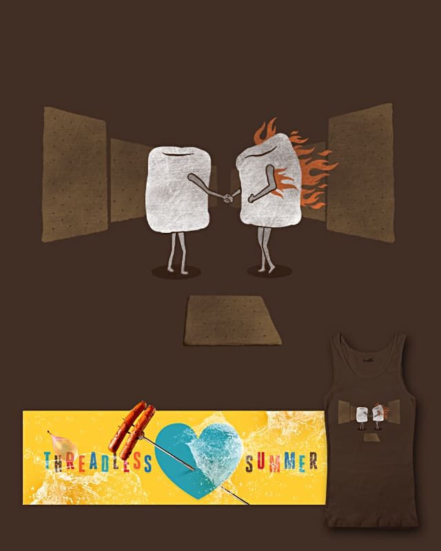 mallow on fire by jerbing33 on Threadless