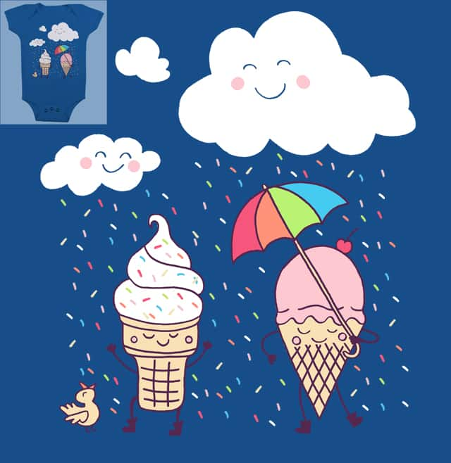 Cloudy With A Chance Of Sprinkles by myteemo on Threadless