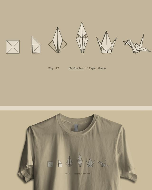 Evolution of Paper Crane by agrimony on Threadless