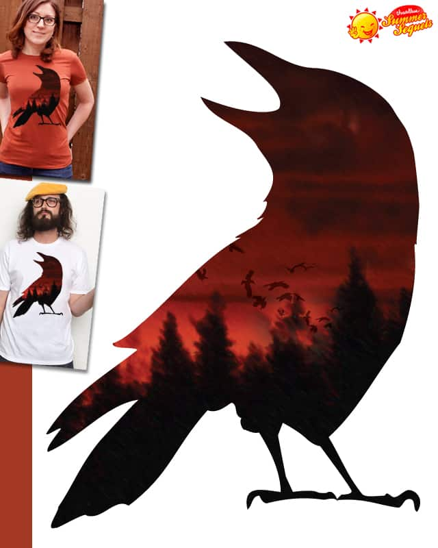 A crow flying far from home by Jemae on Threadless