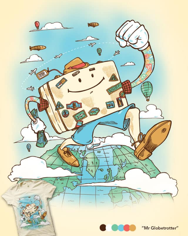 Mr Globetrotter by nickv47 on Threadless