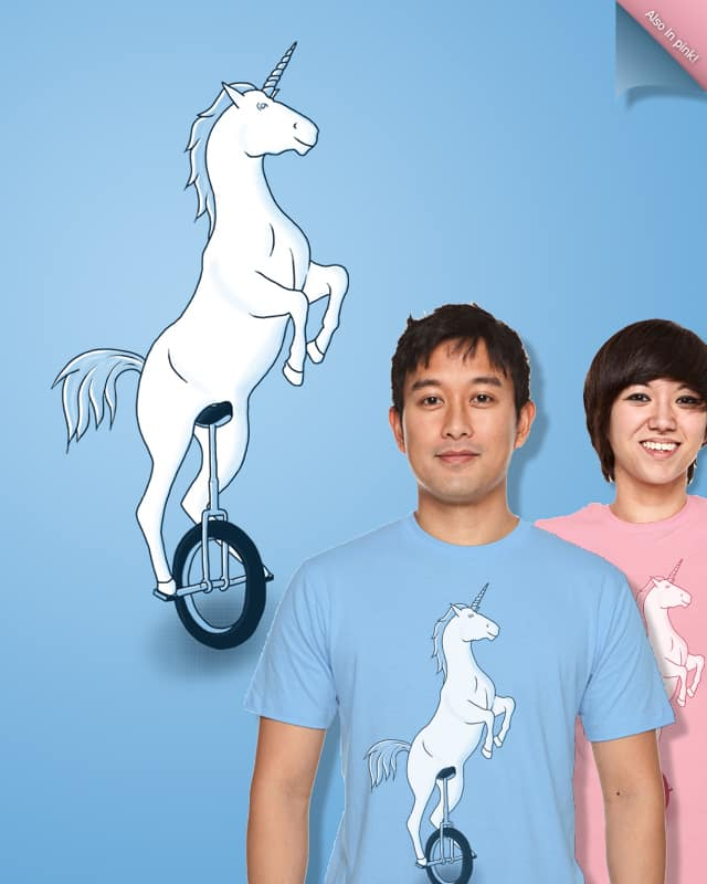 Unicorn on a Unicycle by Mosquito88 on Threadless
