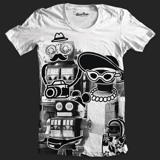 Roboto Family Vacation by pilihp on Threadless