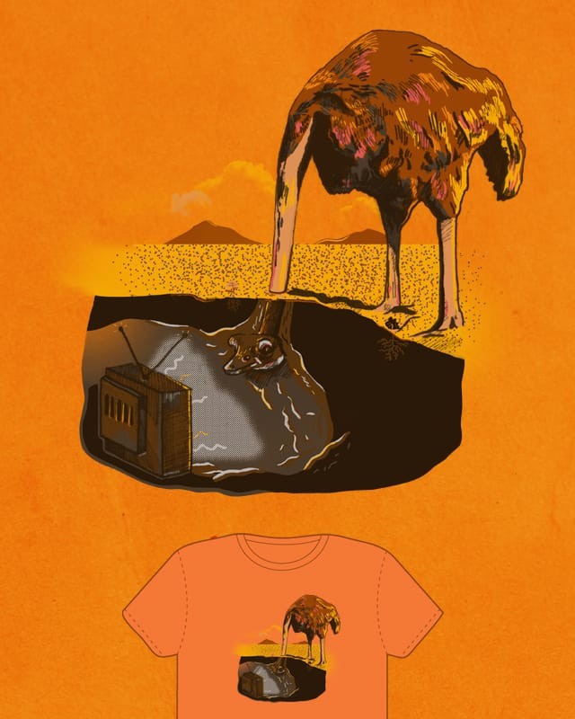 Put your head in the sand by Qxzi on Threadless