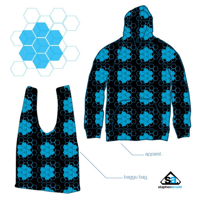 Hexagonal Grid by theStaphon on Threadless