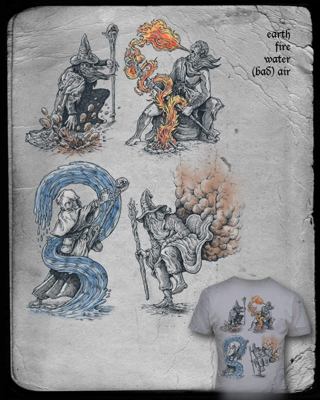 Earth - Fire - Water - (Bad) Air by badbasilisk on Threadless