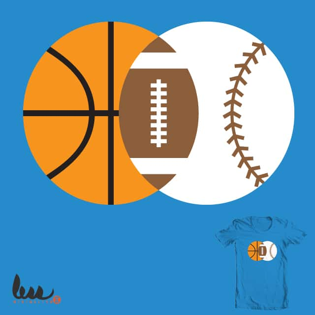American Ball Games Venn by NGee on Threadless
