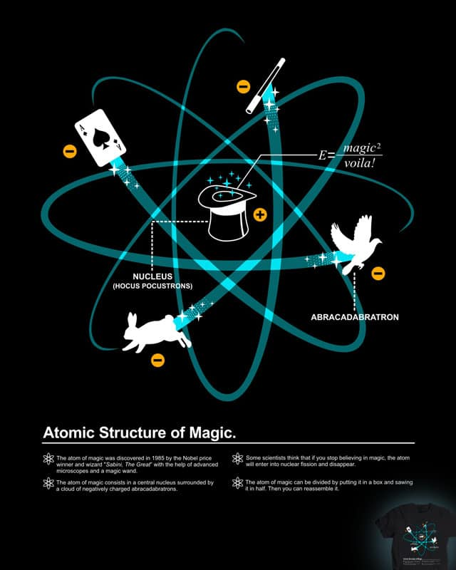 Atomic Structure of Magic by Graja on Threadless