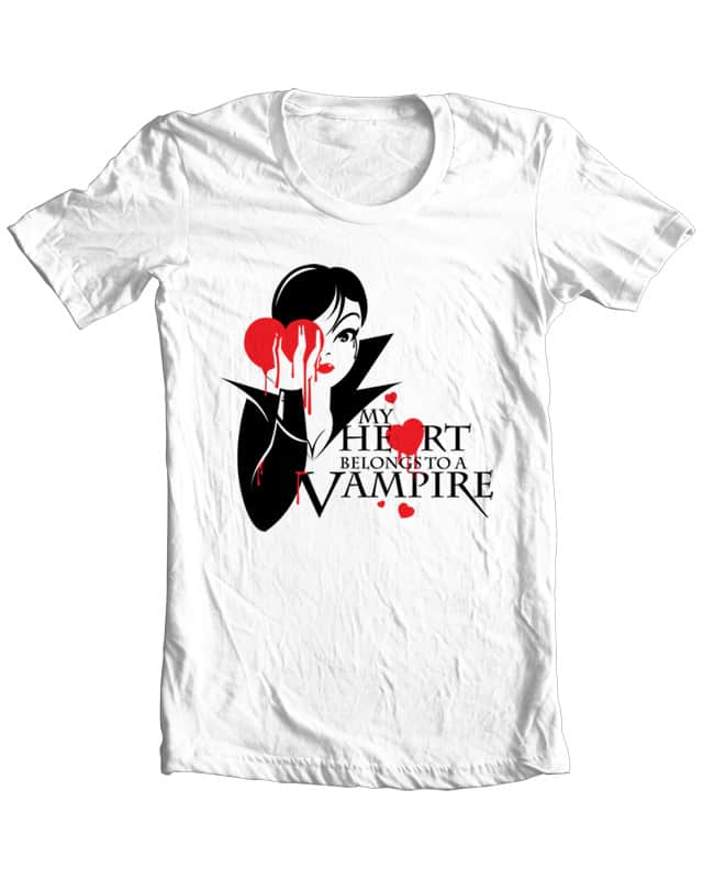 My Heart Belongs To A Vampire by KennyDesignsit on Threadless