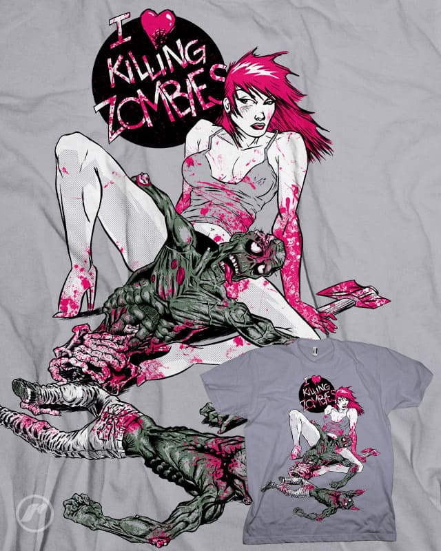I heart Killing Zombies by RazCity on Threadless