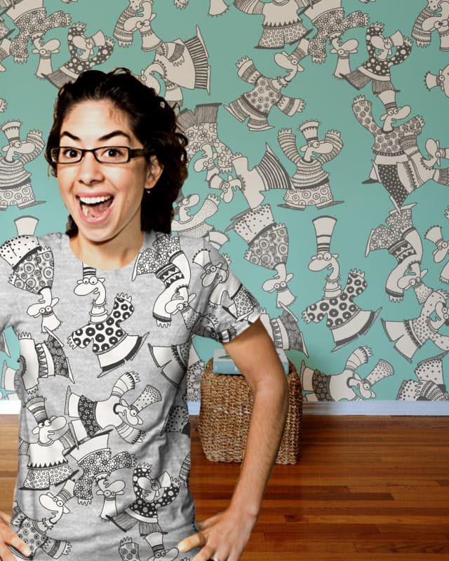 MUM!, there are funny men in my room... by Lonkiponk on Threadless