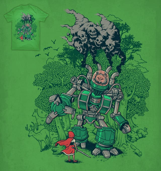 Little Red Hood Fight by ben chen on Threadless