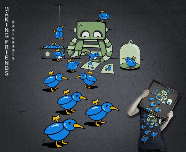 Making Friends by BootsBoots on Threadless
