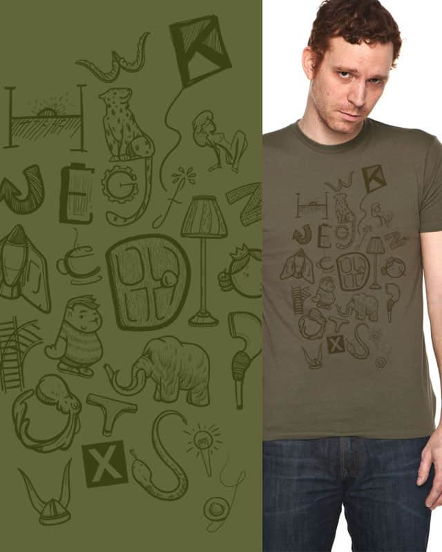 """Pictionary"" by ZhetYouth on Threadless"