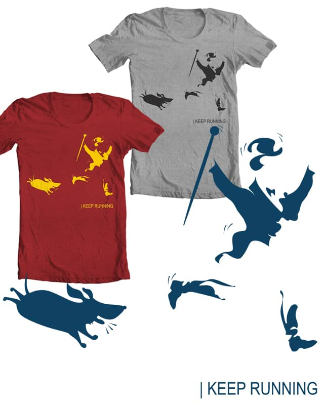 Keep Running by kimkong1014 on Threadless