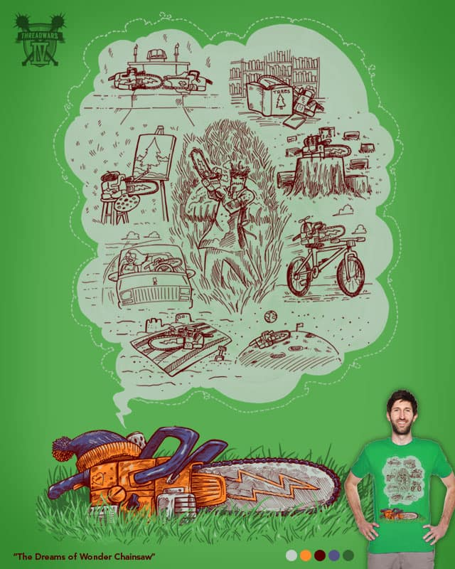 The Dreams of Wonder Chainsaw by nickv47 on Threadless