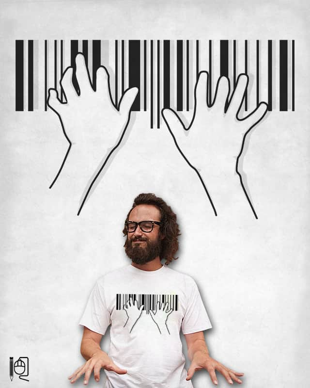 Barcode pianist by rodrigobhz on Threadless