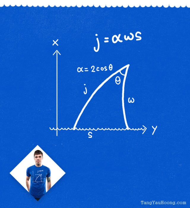 Jaws Equation by TangYauHoong on Threadless