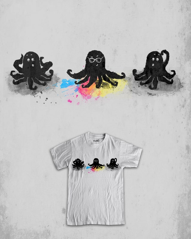 4-color squid by jerbing33 on Threadless