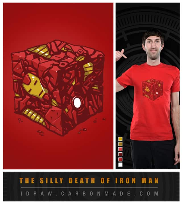 The Silly Death of Iron Man by thiago_oliveira on Threadless