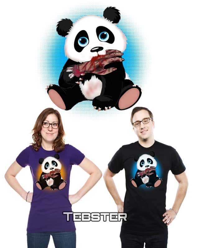 Blood Panda by tebster on Threadless