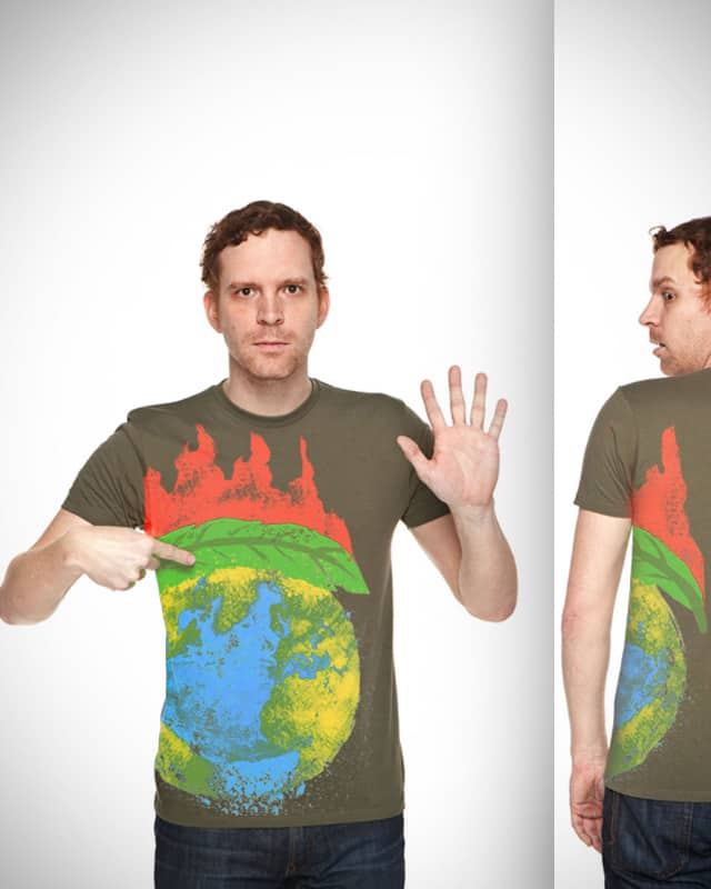 green to save the earth from global warming by soe on Threadless