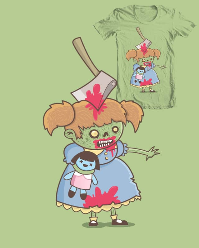 Pretty little zombie by ppmid on Threadless