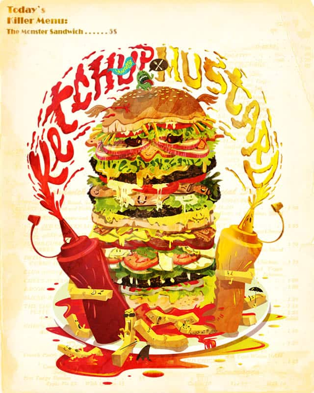 """The Monster Sandwich"" by Rauth on Threadless"