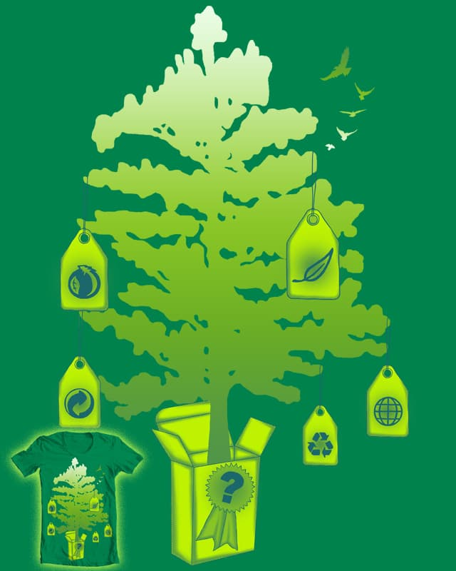 "is guaranteed ""green"" by messing on Threadless"