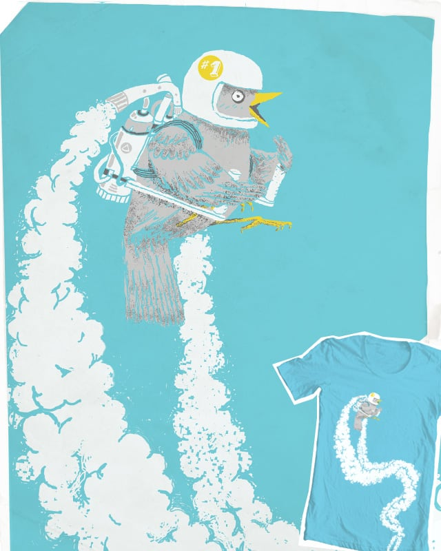 Lazy - jetpack- bird by c-royal on Threadless