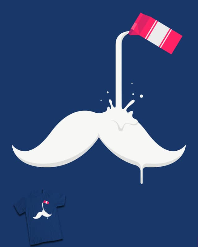 Milk Moustache by Benjamin Hennessy on Threadless