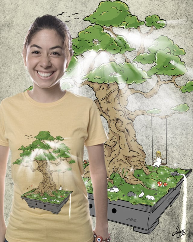 Alice in Bonsai Land by bykai on Threadless
