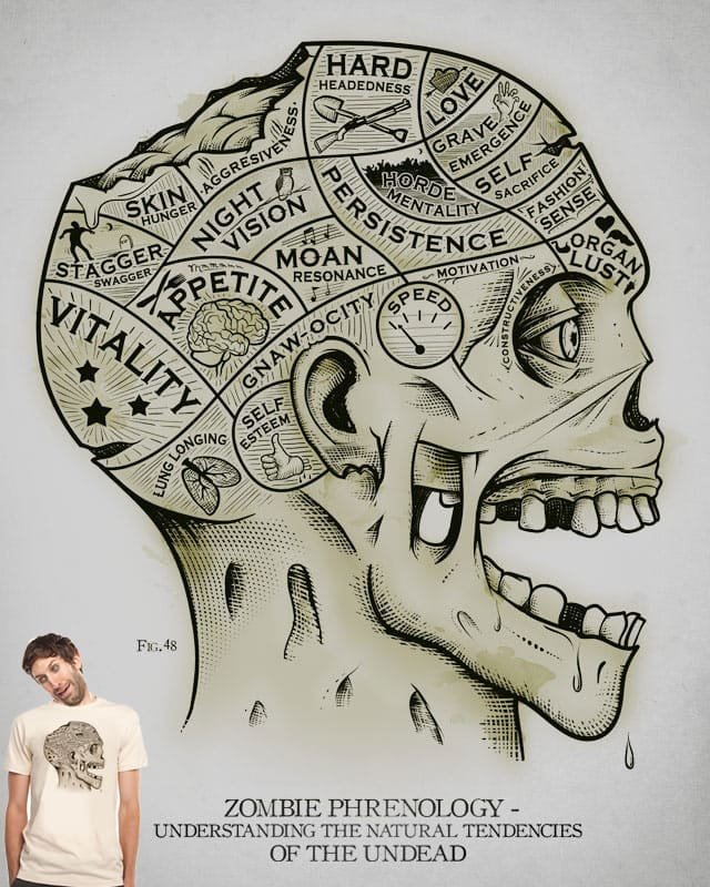 Zombie Phrenology by everything on Threadless
