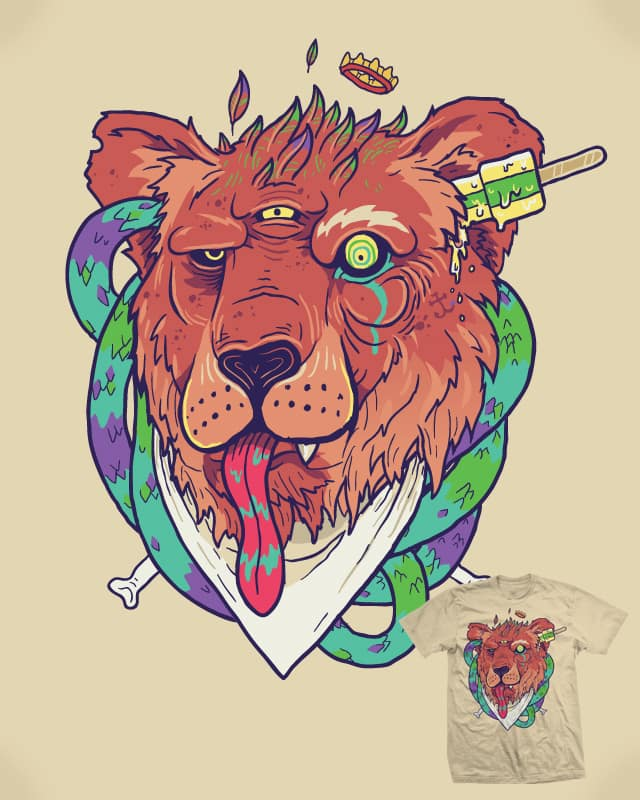 Lion, you so craaazy. by Demented on Threadless