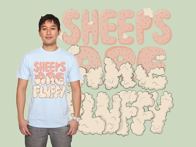 Sheeps are fluffy by fOntO on Threadless
