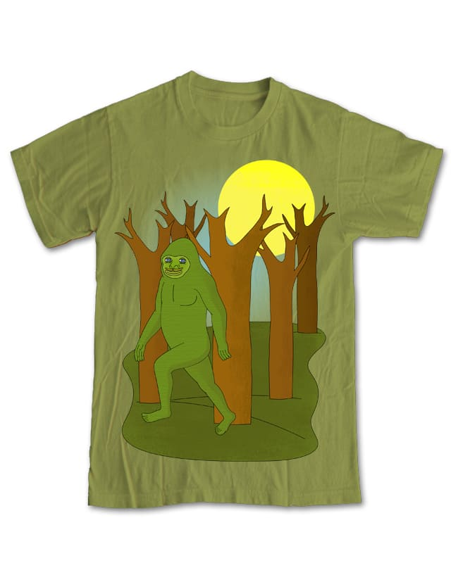Green Bigfoot by PudgePuggle on Threadless