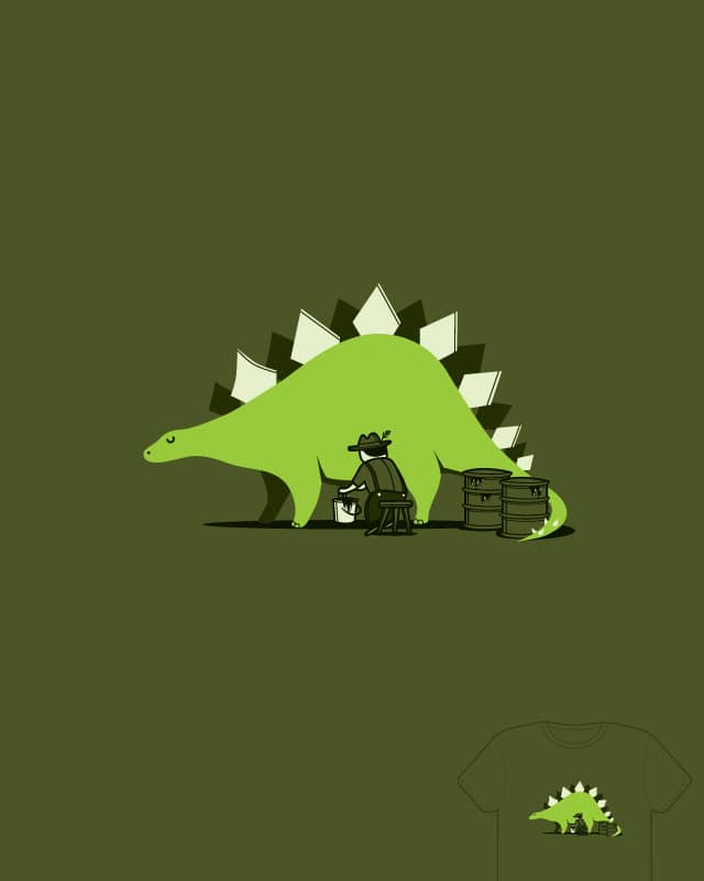 Crude oil comes from dinosaurs by agrimony on Threadless