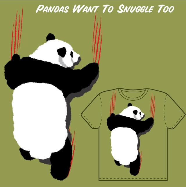 Pandas Want To Snuggle Too by diydill on Threadless
